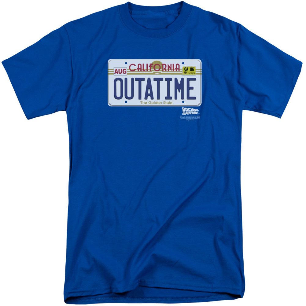 Outatime Plate Adult T-shirt Tall