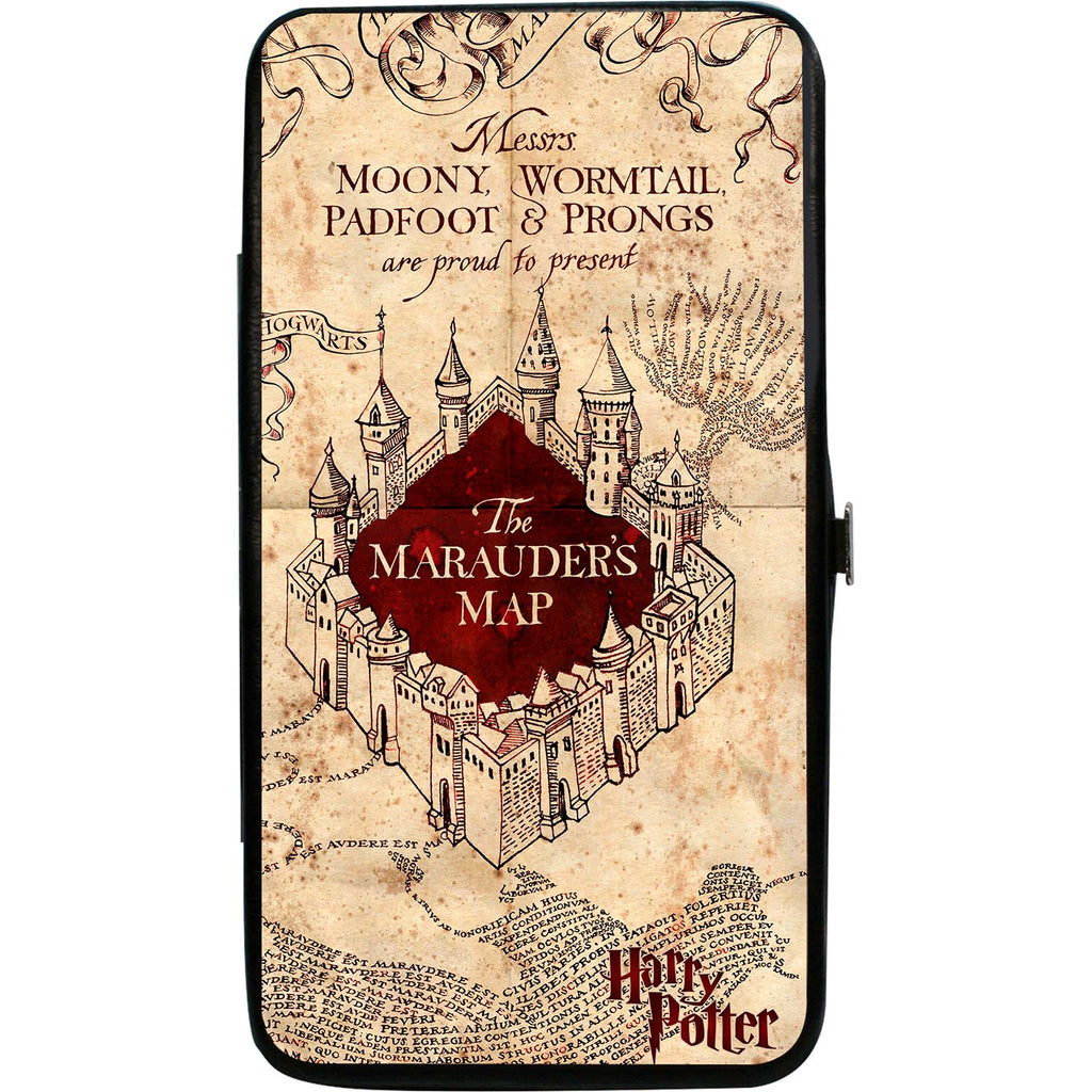 Hogwarts School The Marauders Map Tan/Reds Girls Wallet