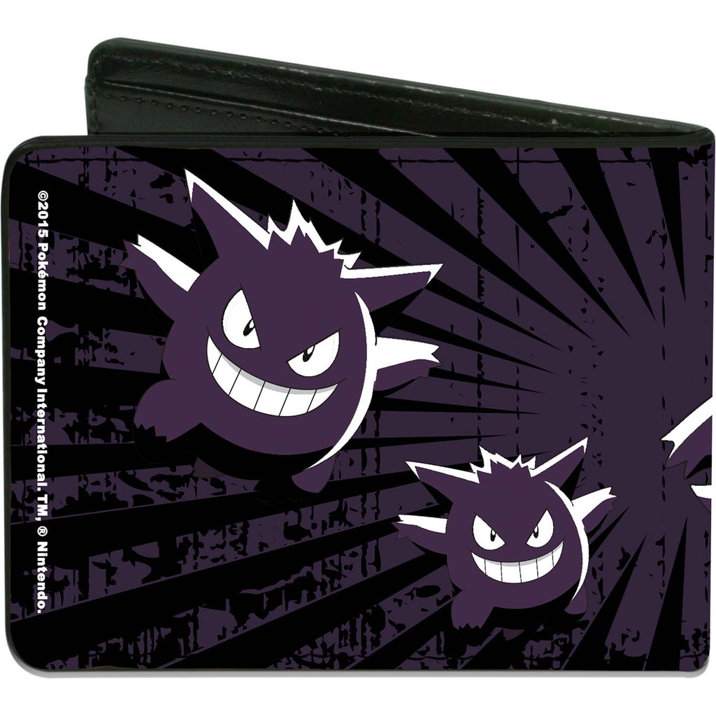 Gengar Scattered Poses/Rays Weathered Black/Purple/White Bi-Fold