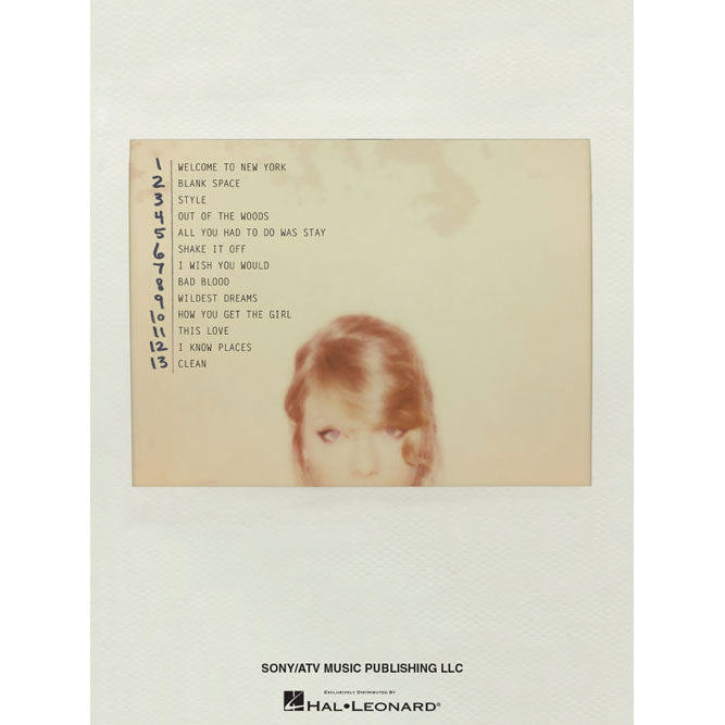 Taylor Swift - 1989 Music Book