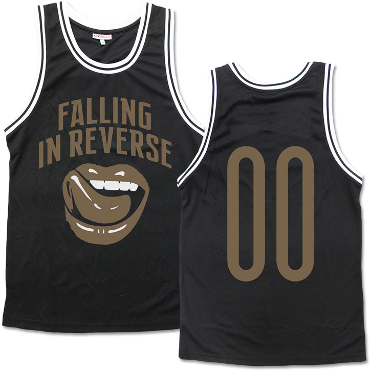 Gold Lips Jersey Basketball  Jersey