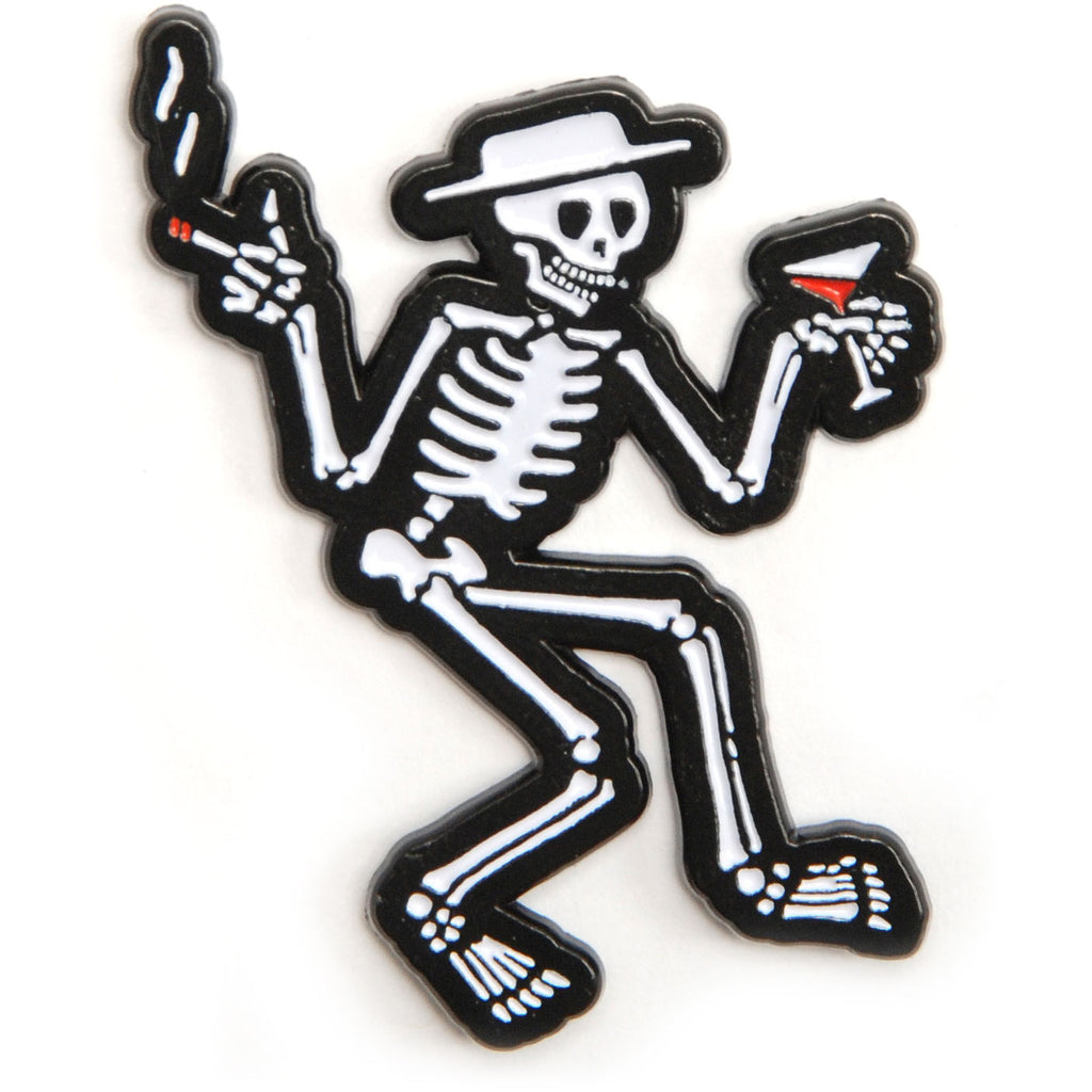 Skelly Enamel Pin Pewter Pin Badge
