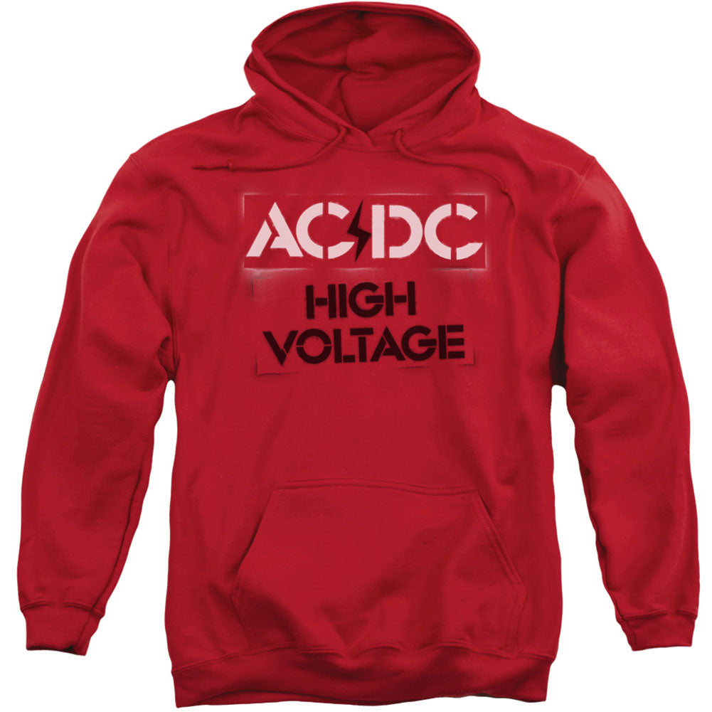 High Voltage Stencil Adult 25% Poly Hooded Sweatshirt