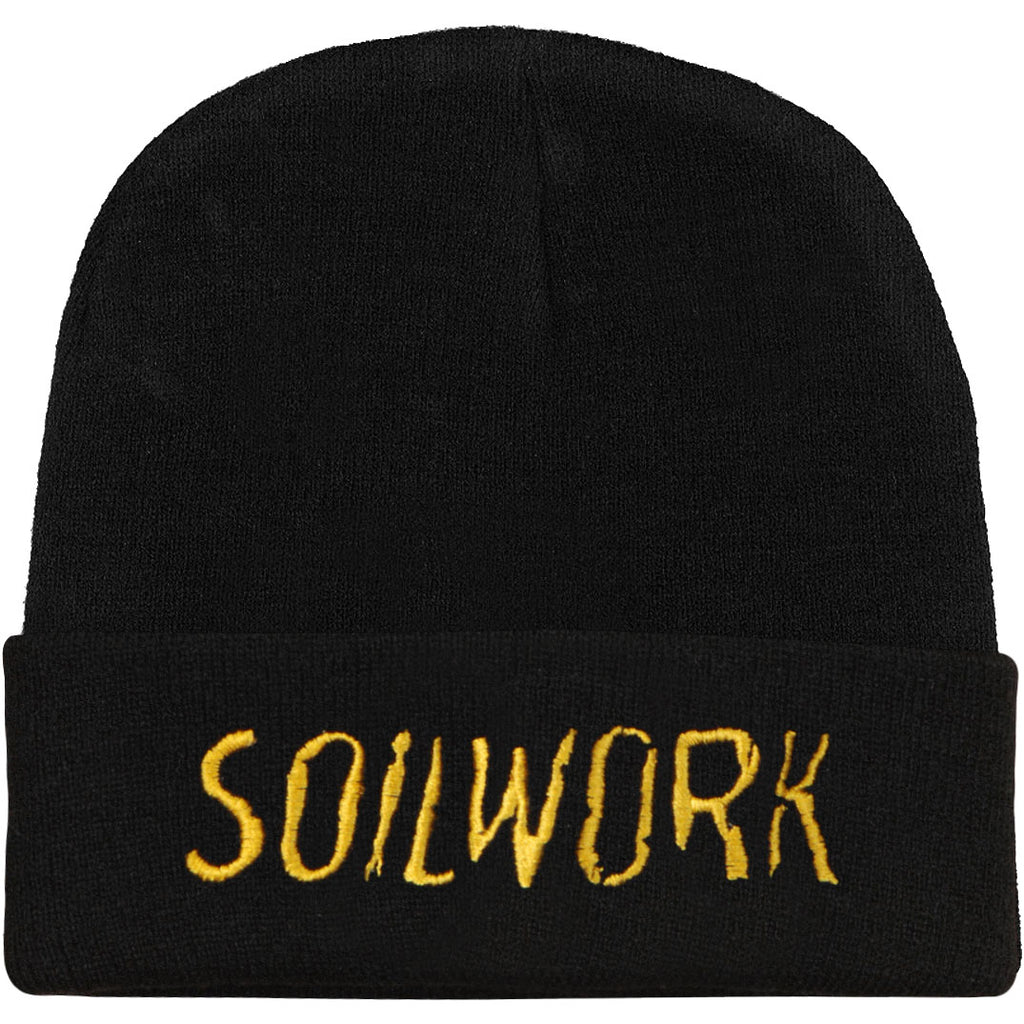 Embroidered Gold Logo 12in Beanie