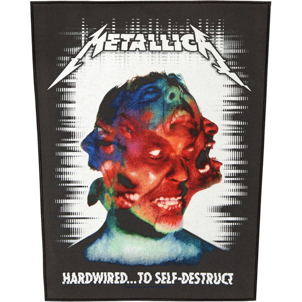 Hardwired To Self Destruct Back Patch