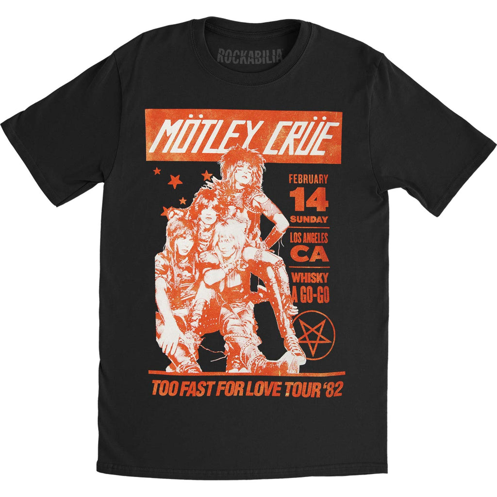 Motley Crue Vintage Whisky A Go Go Slim Fit T-shirt
