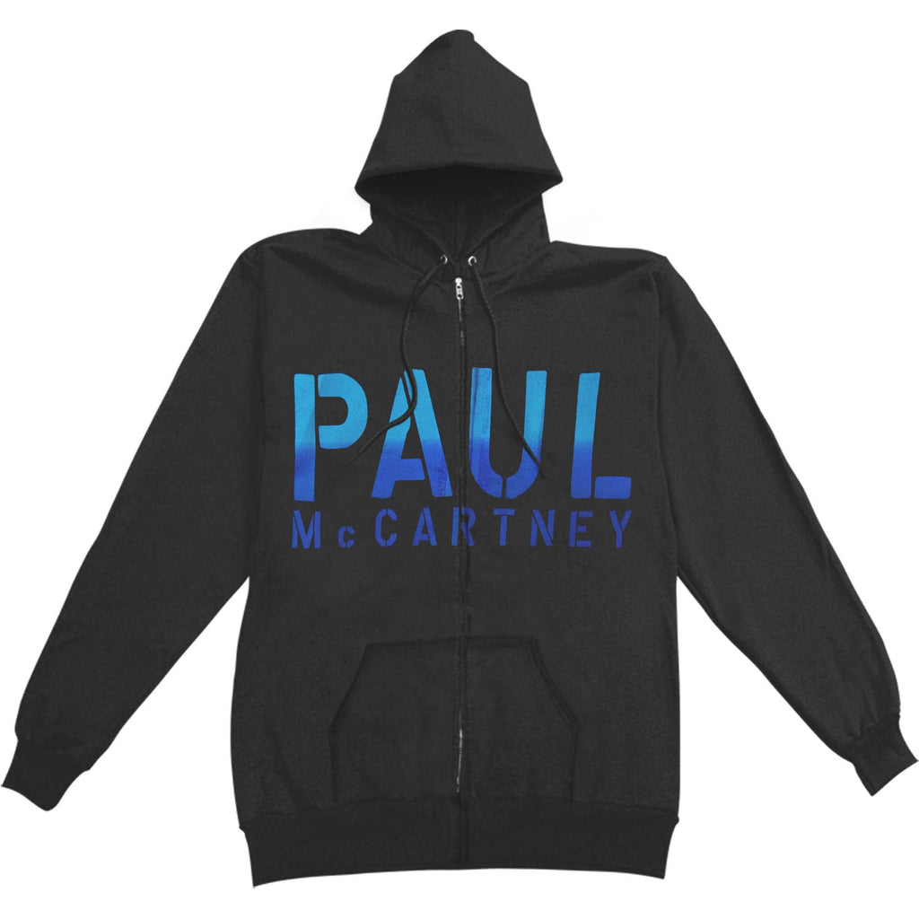 Paul McCartney Guitar Zippered Hooded Sweatshirt