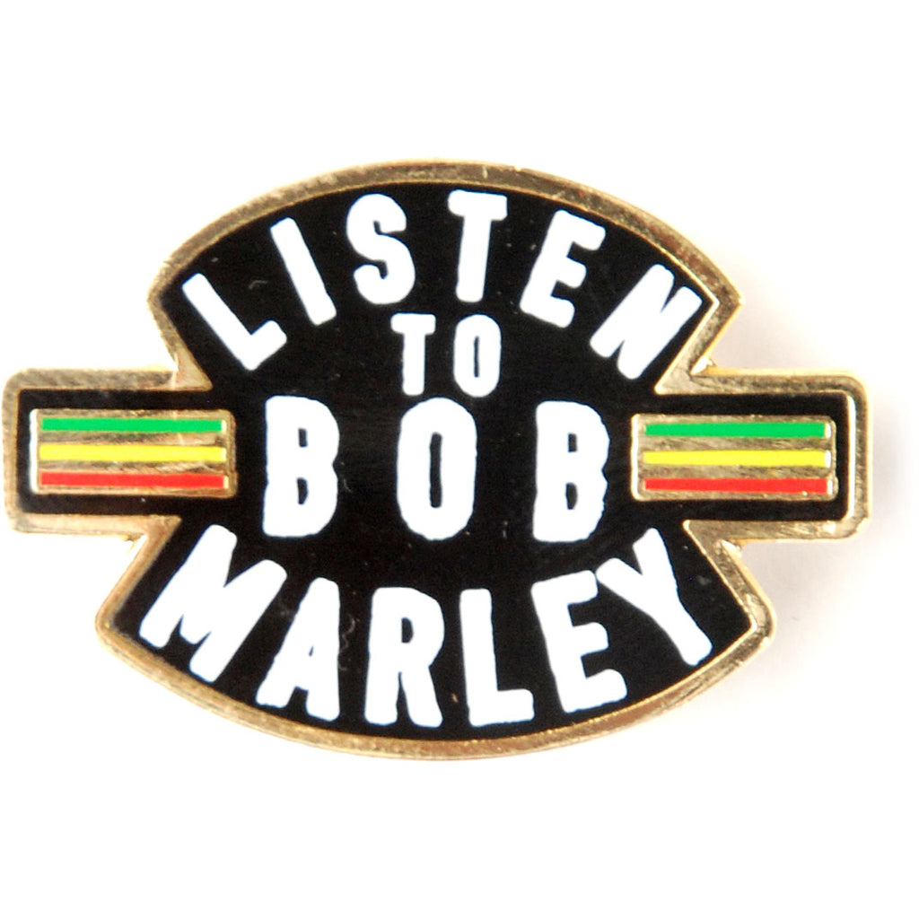 Listen To Bob Marley Enamel Pin Pewter Pin Badge
