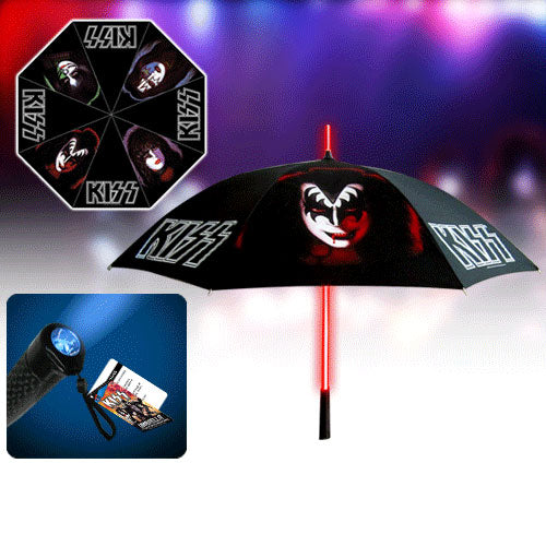 Retro with Light-Up Tube and Flashlight Handle Umbrella