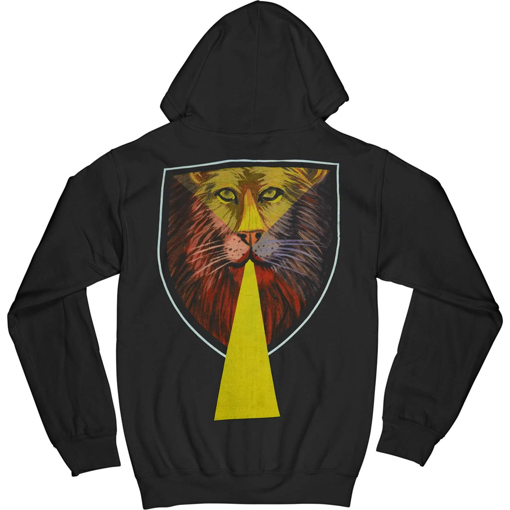 Shield Lion Zippered Hooded Sweatshirt