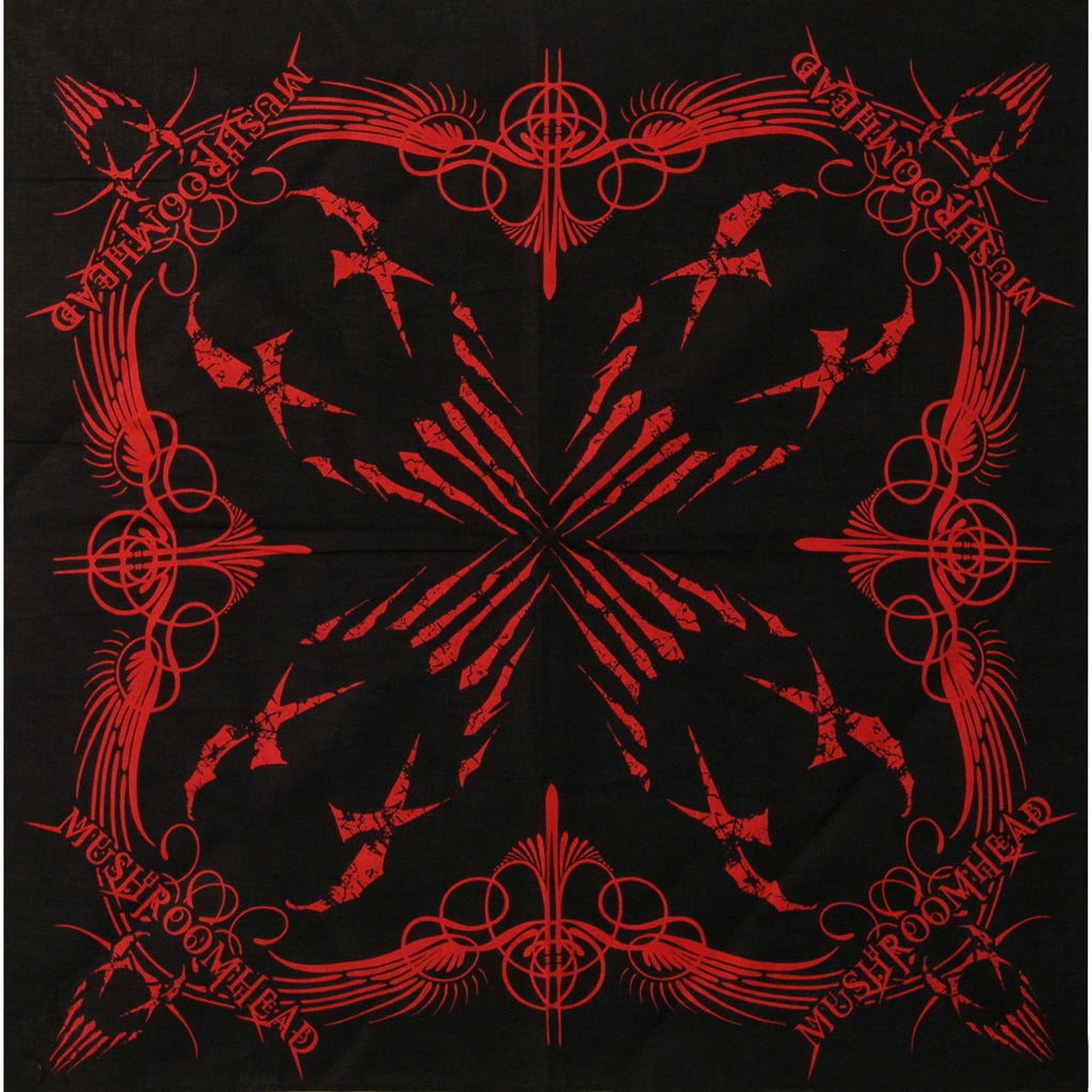 Logo Red On Black Bandana