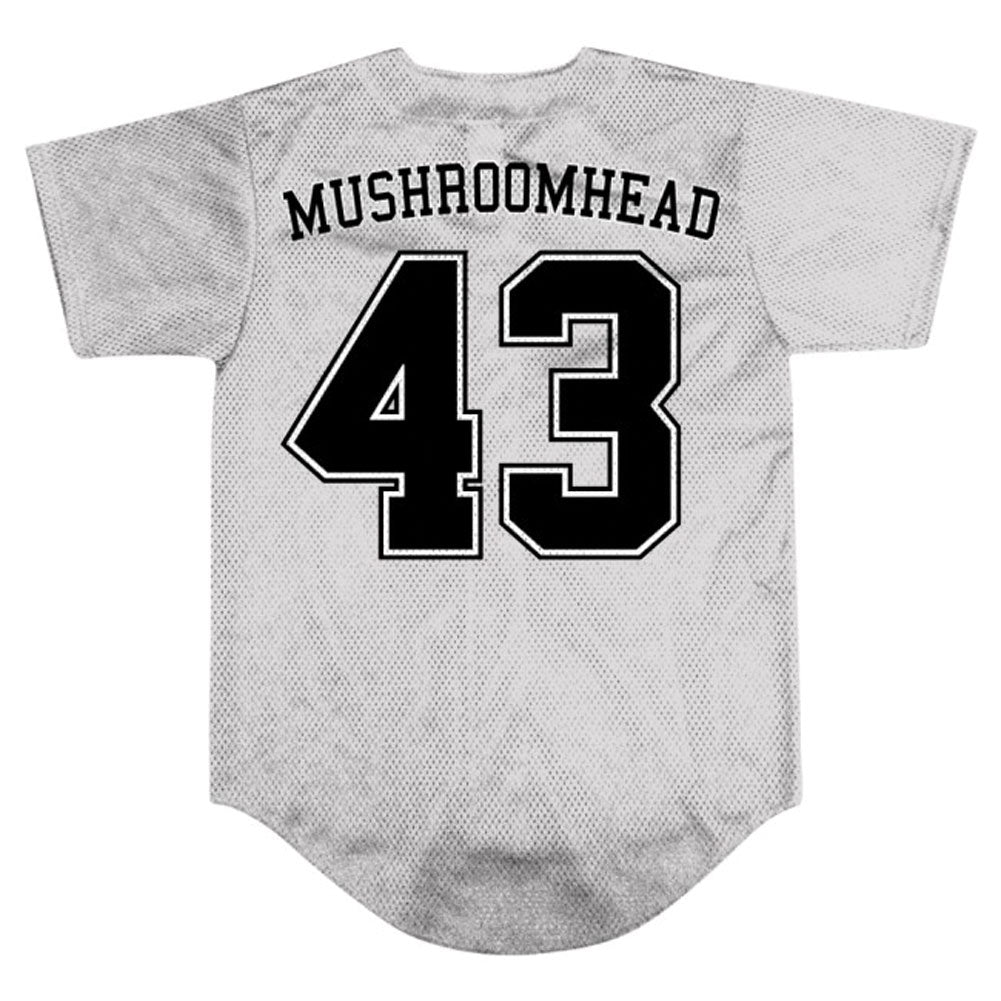 X-Face/43 Grey Baseball Jersey