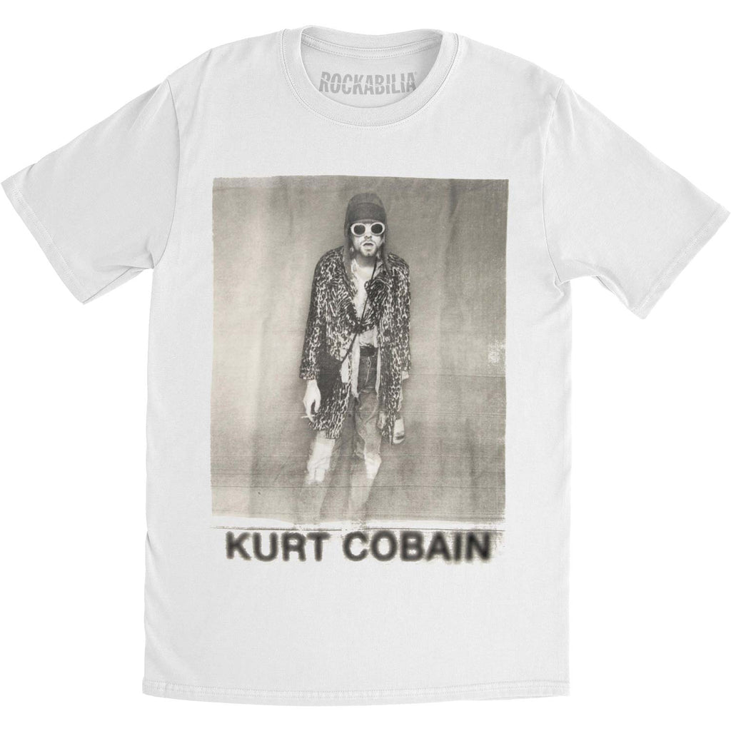 Kurt Cobain B&W Leopard Photo Mens Regular T Slim Fit T-shirt