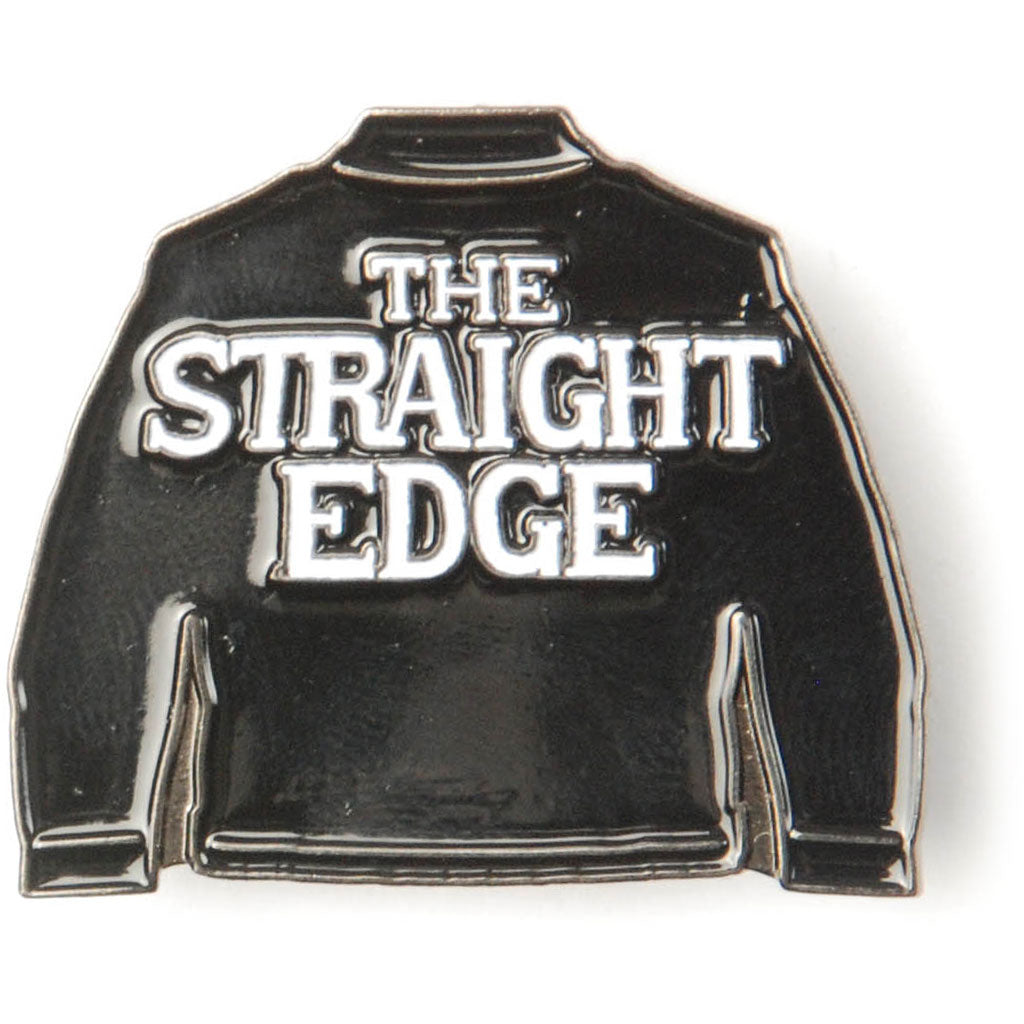 The Straight Edge Pewter Pin Badge