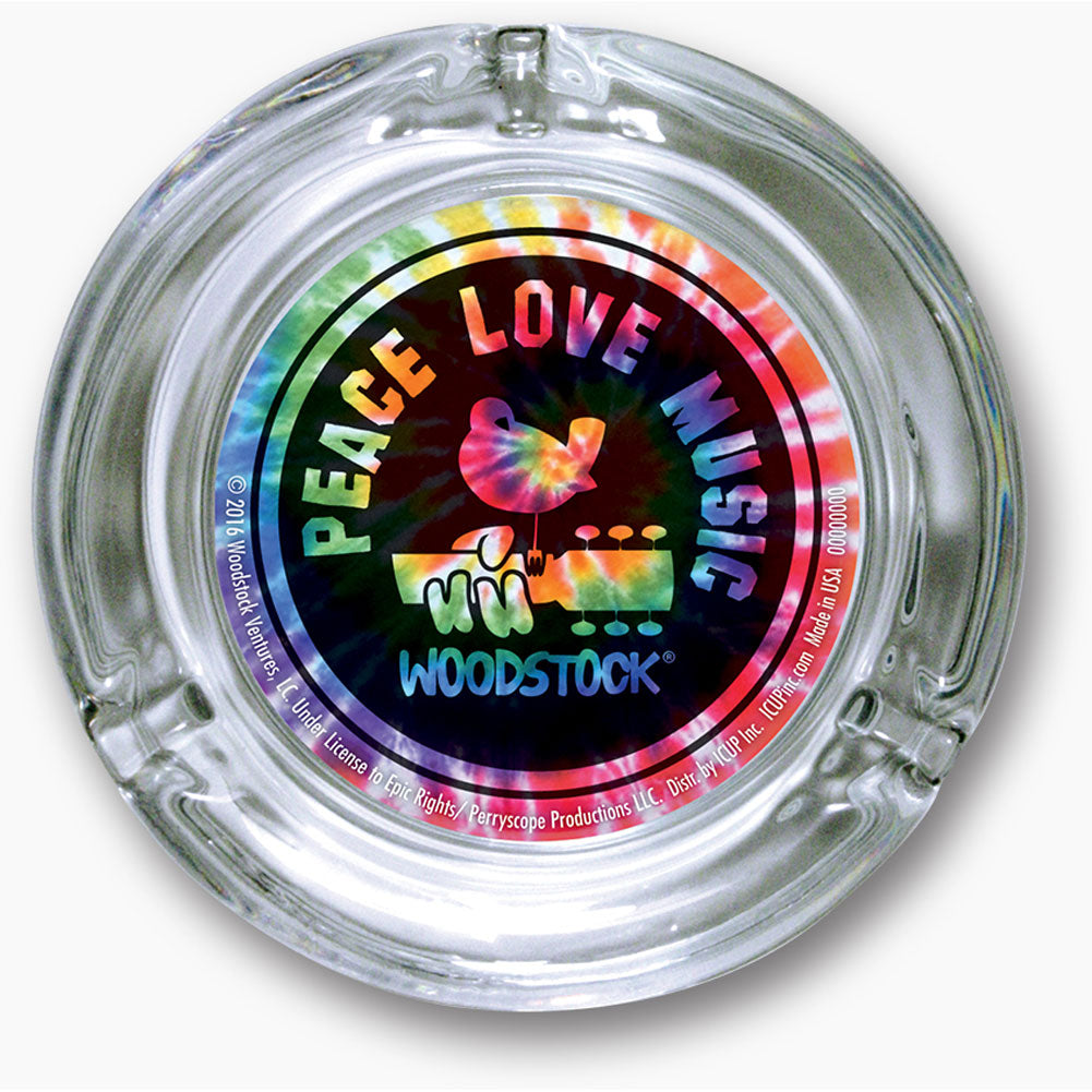 Peace Love Music Tie Dye Ashtray