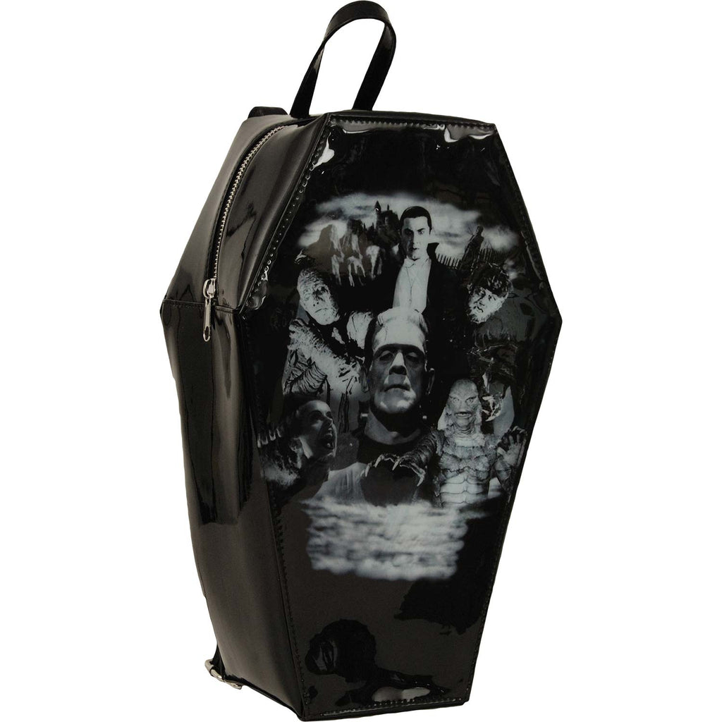 Monster Collage Coffin Backpack Backpack