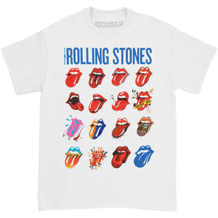 Official Rolling Stones Plastered Tongue T-Shirt Steel Wheels Out Of Our Heads