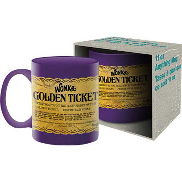 Willy Wonka & The Chocolate Factory Golden Ticket Coffee Mug