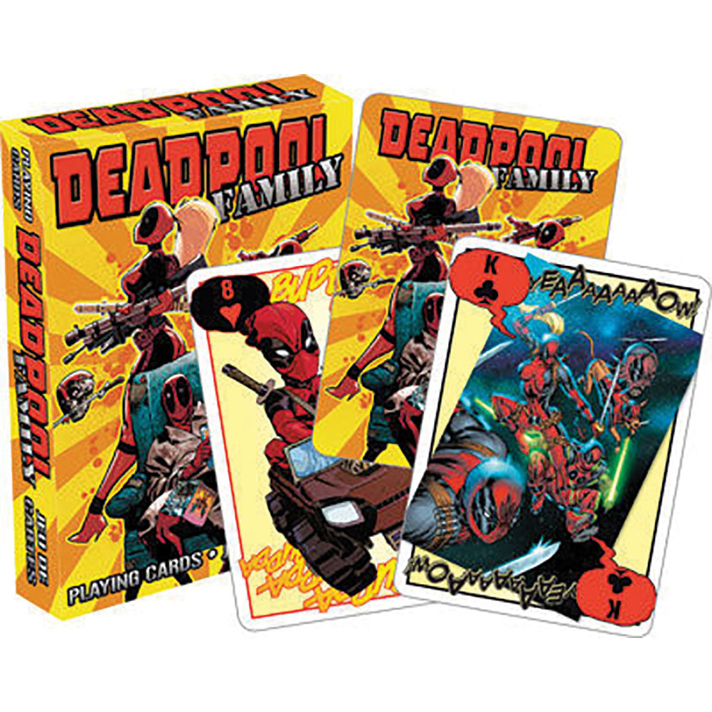 Deadpool Family Playing Cards