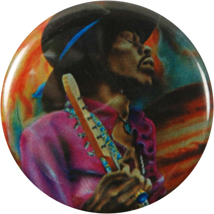 Jimi Hendrix Space 3 Button