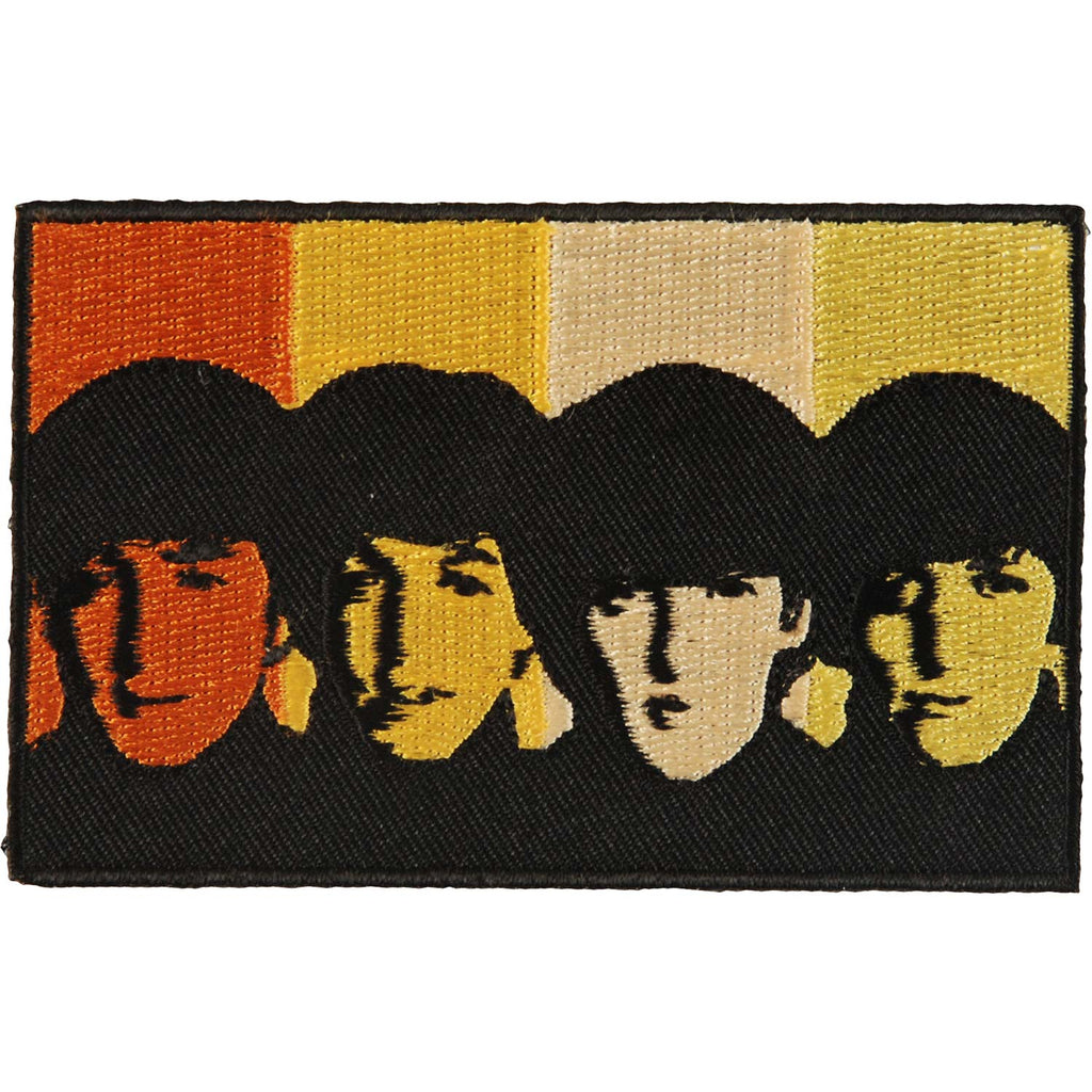 Beatles Heads In Bands Woven Patch