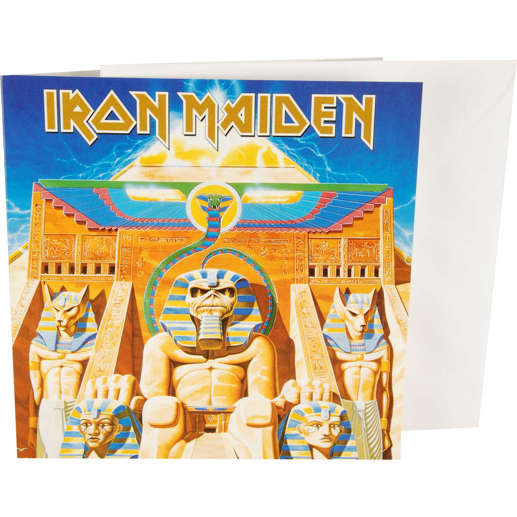 Iron Maiden Power Slave Greeting Card
