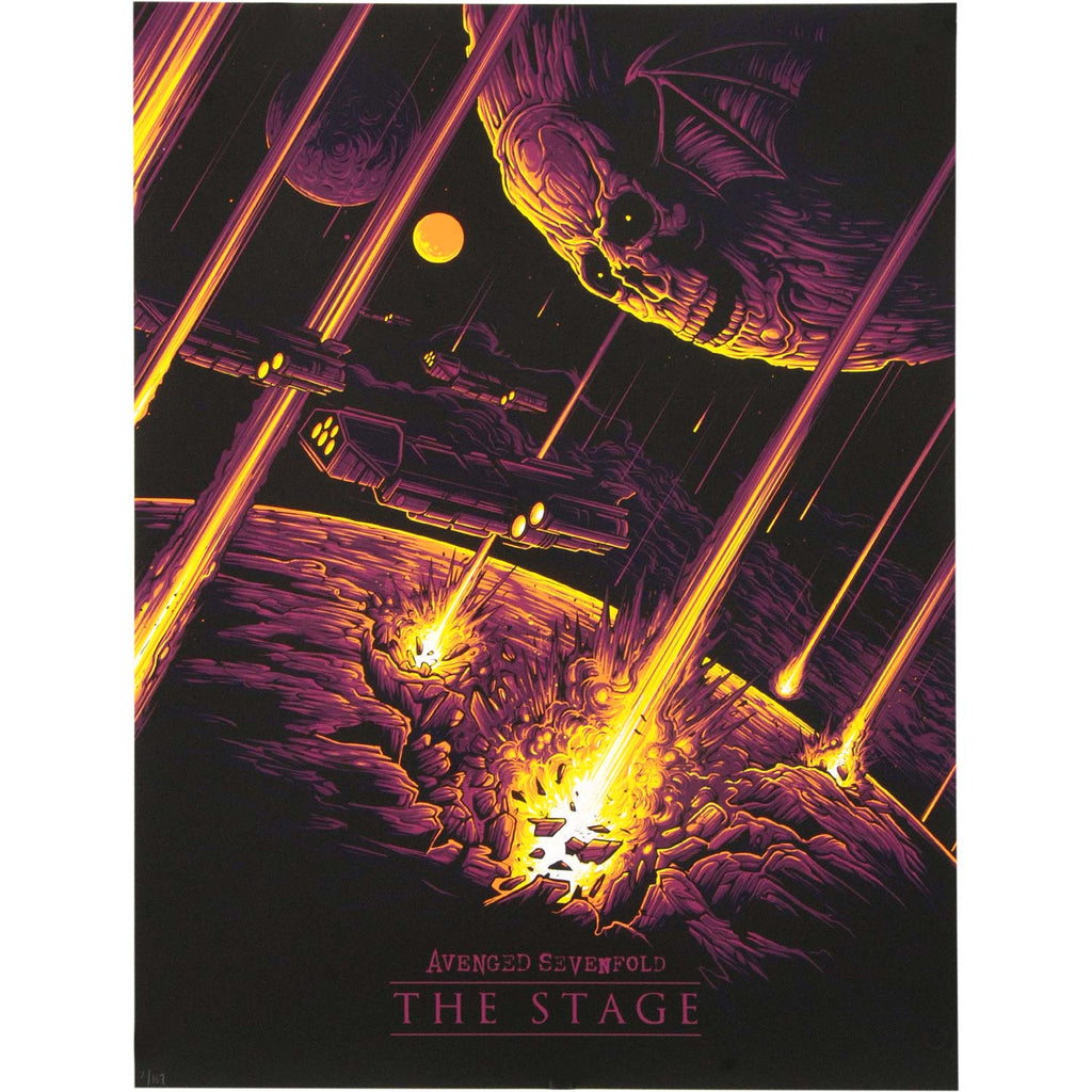 Avenged Sevenfold The Stage by Dan Mumford REG version Limited Screenprint