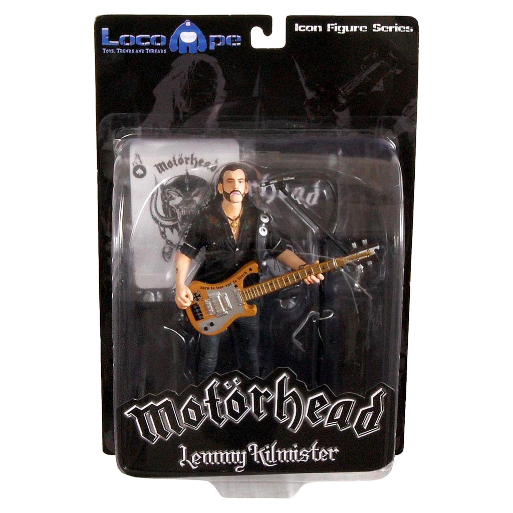 "Lemmy Kilmister 7"" Icon Rickenbacker Guitar Cross Action Figure"