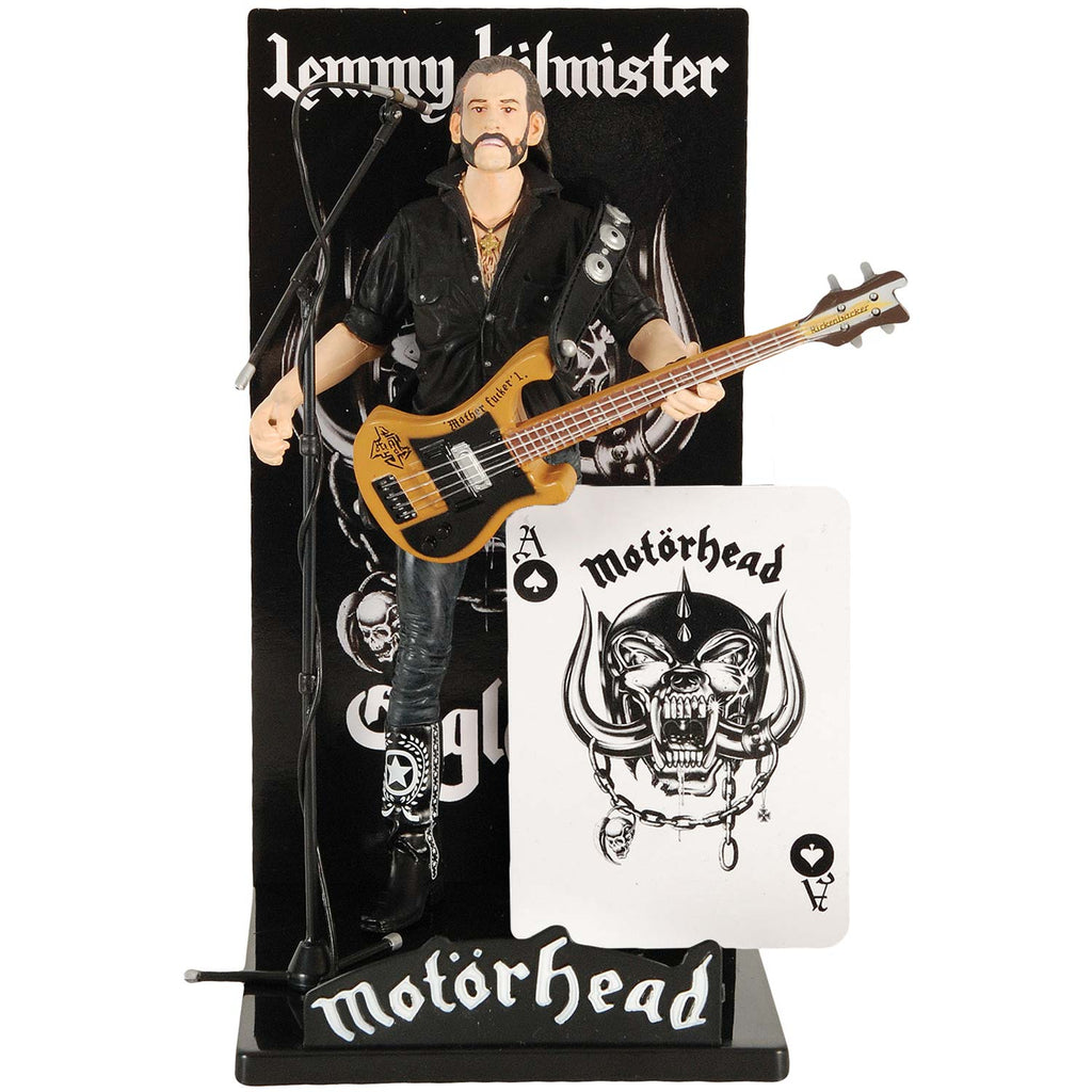 "Lemmy Kilmister 7"" Icon Guitar Black Pick Guard Action Figure"