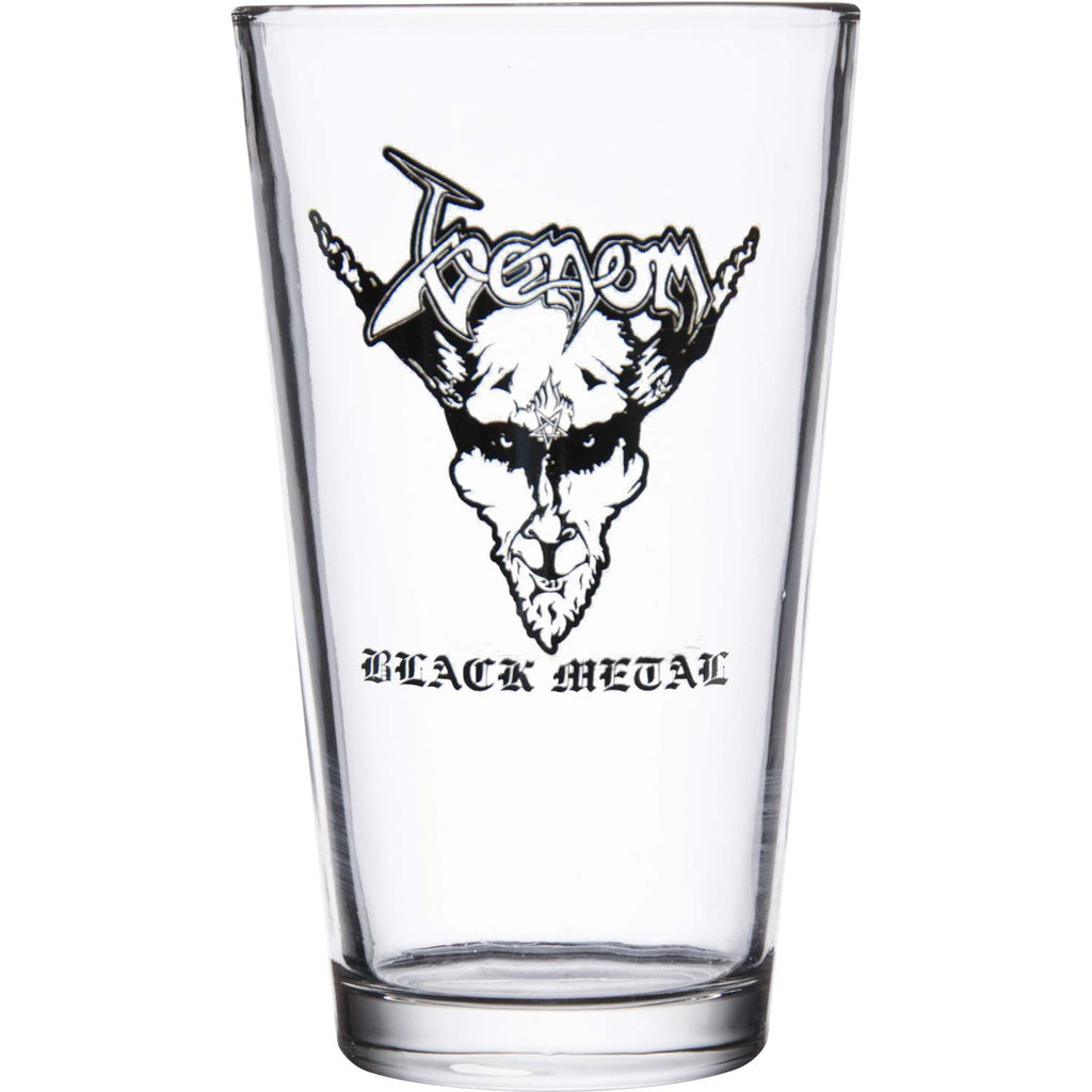 Black Metal Pint Glass