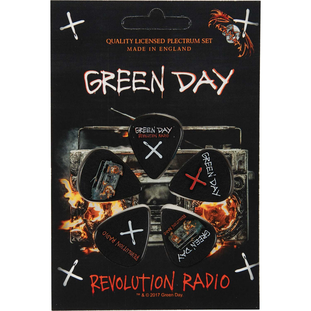 rz Green Day Revolution Radio pack of 5 round pin badges