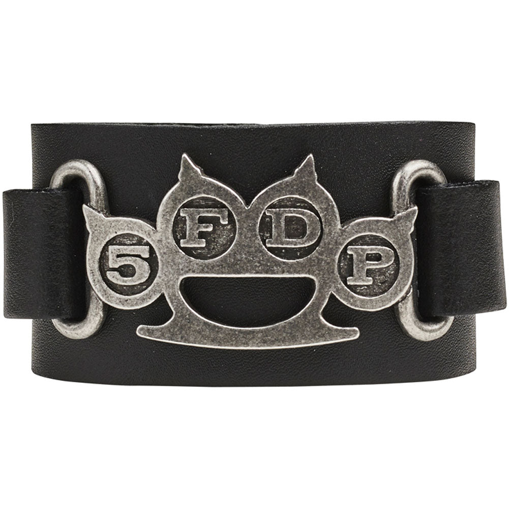 Knuckle Duster Leather Wriststrap Wristband