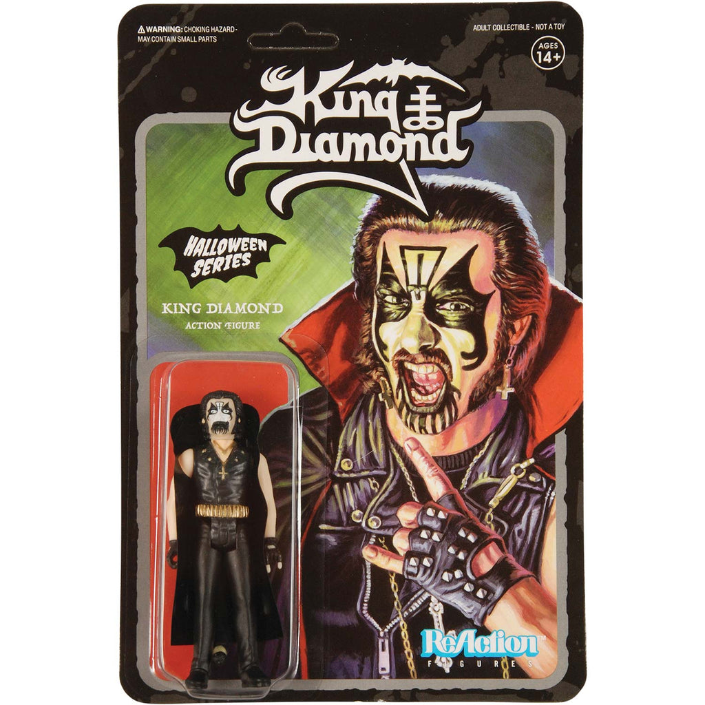 "Super7 ""Halloween Series"" King Diamond 3.75"" ReAction Figure Action Figure"