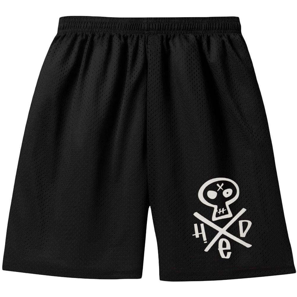 Skull Logo Basketball Gym Shorts