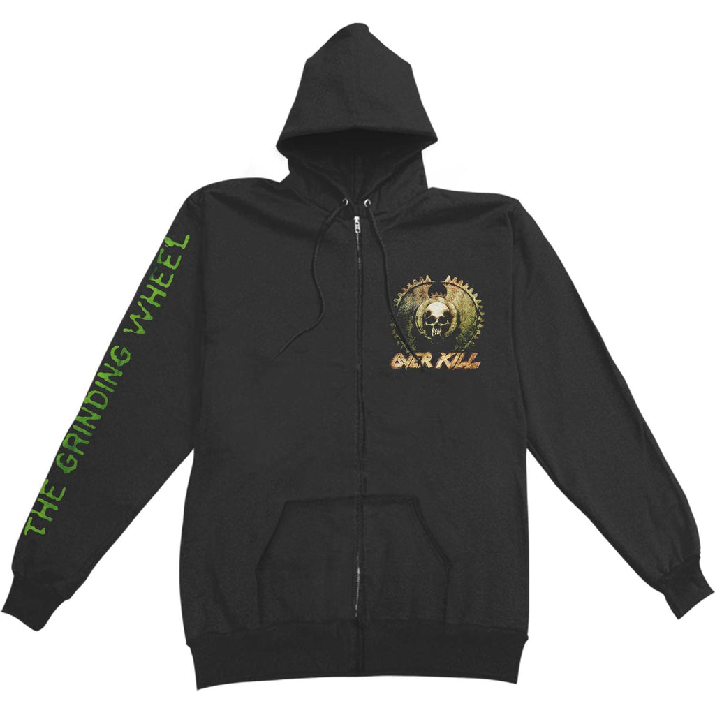 Grinding Wheel Zippered Hooded Sweatshirt
