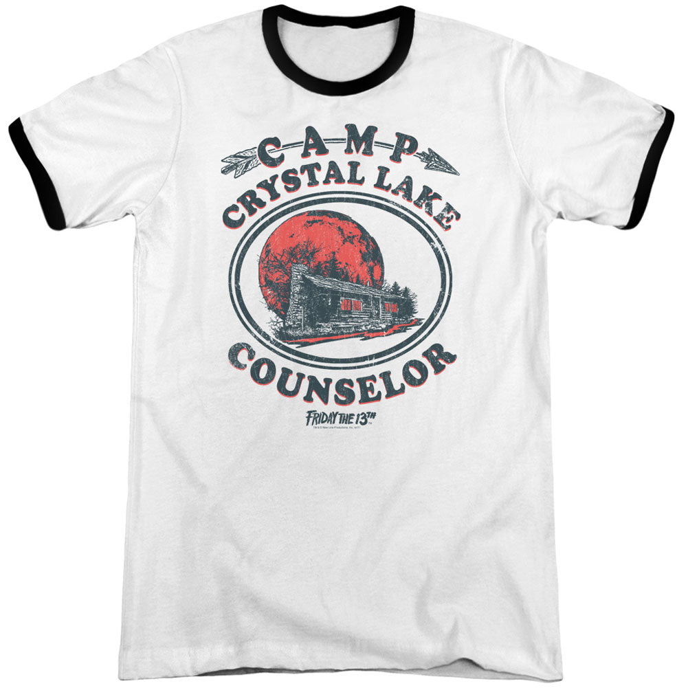 Camp Counselor Adult Ringer T-shirt
