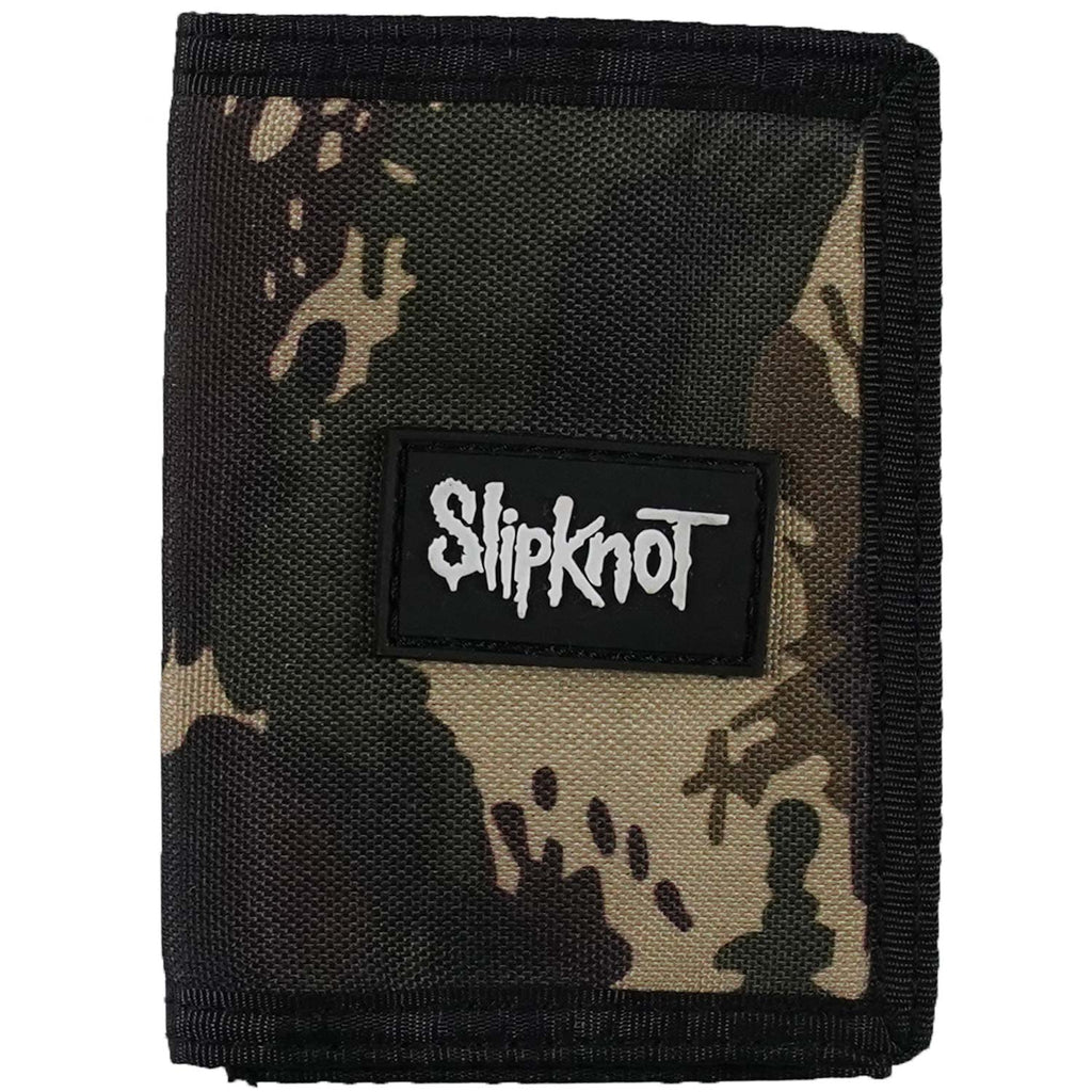 Camo Hook & Loop Closure Tri-Fold Wallet