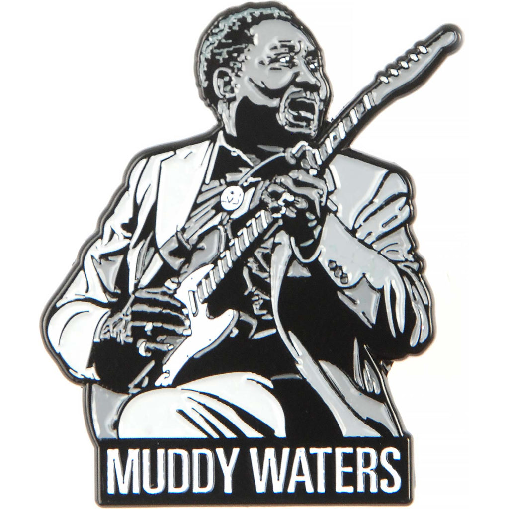 Muddy Waters Pewter Pin Badge