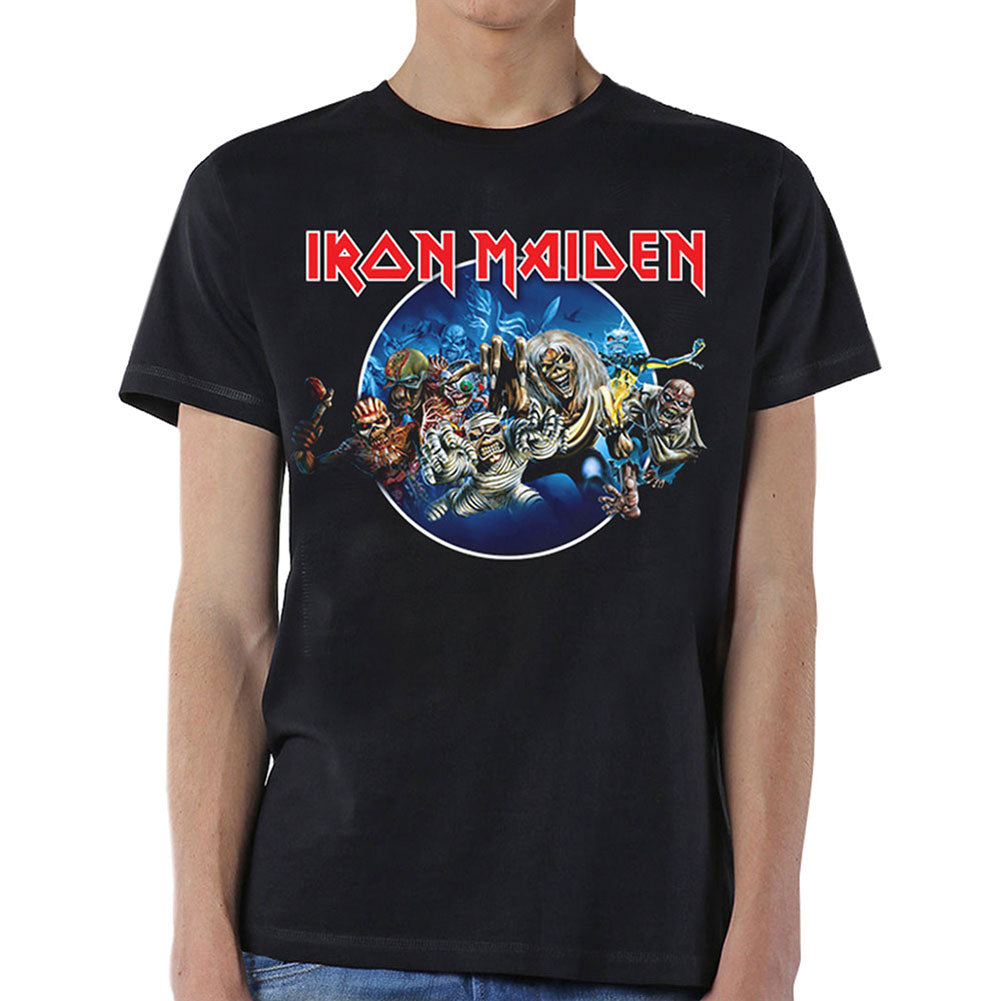 Iron Maiden Wasted Years Circle Slim Fit T-shirt