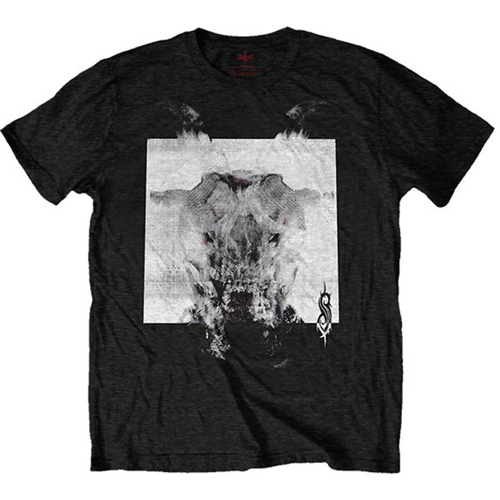 Devil Single - Black & White (Back Print) Slim Fit T-shirt