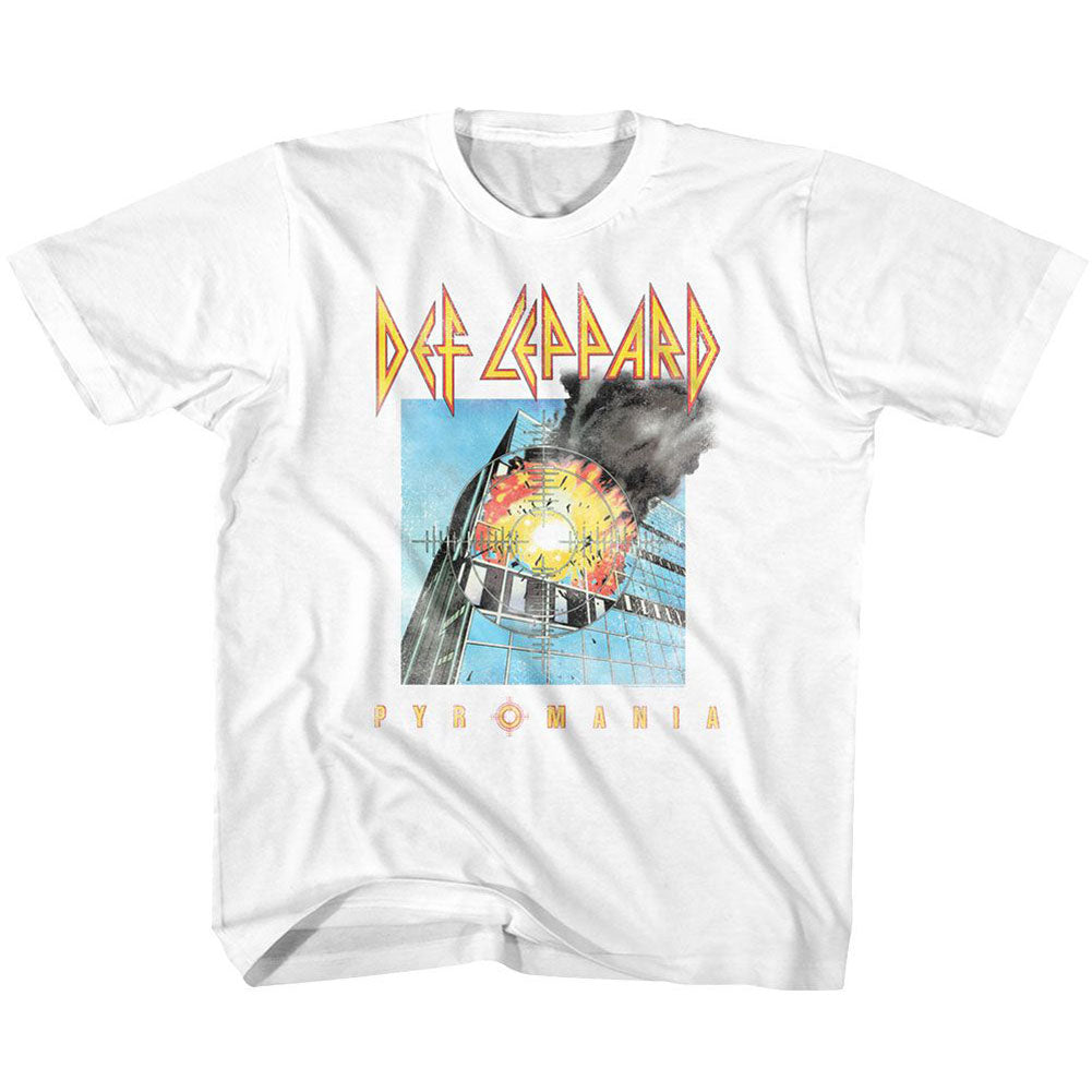 Def Leppard Faded Pyromania Kids Childrens T-shirt