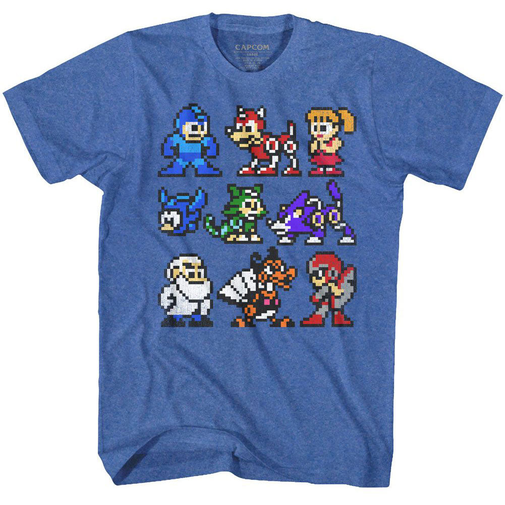Mega Man The Cast T-shirt