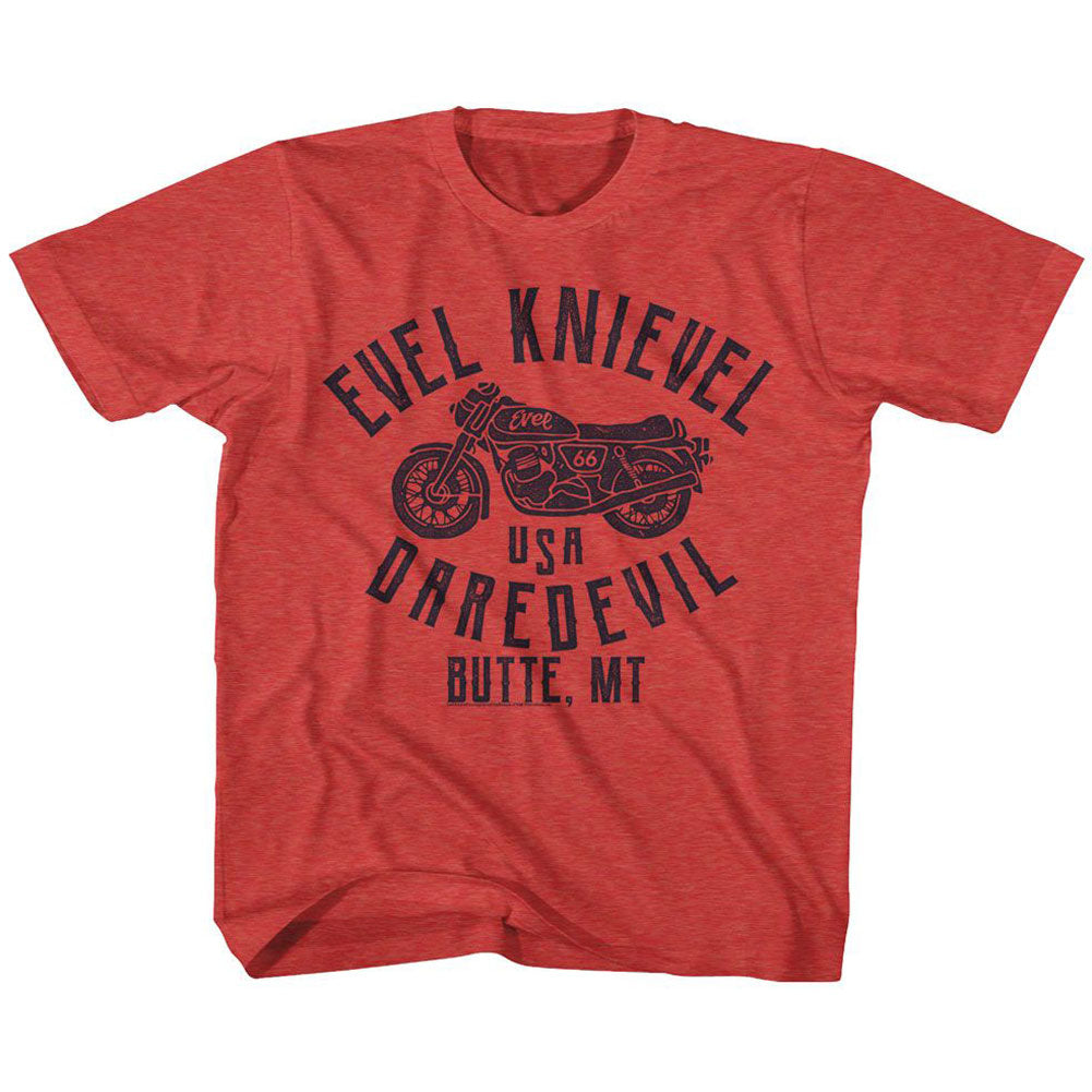 Evel Knievel Usa Dare Devil Youth T-shirt