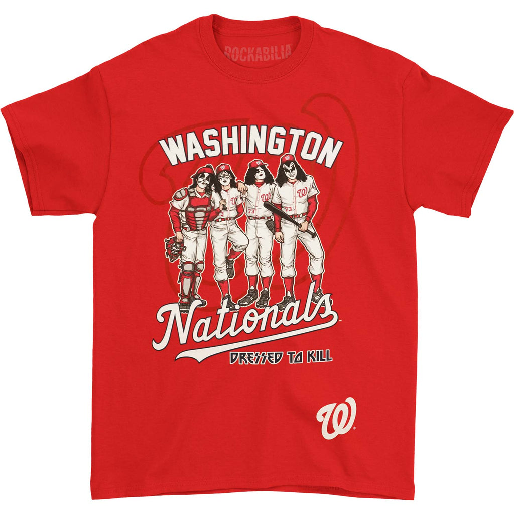 KISS Washington Nationals Dressed To Kill T-shirt