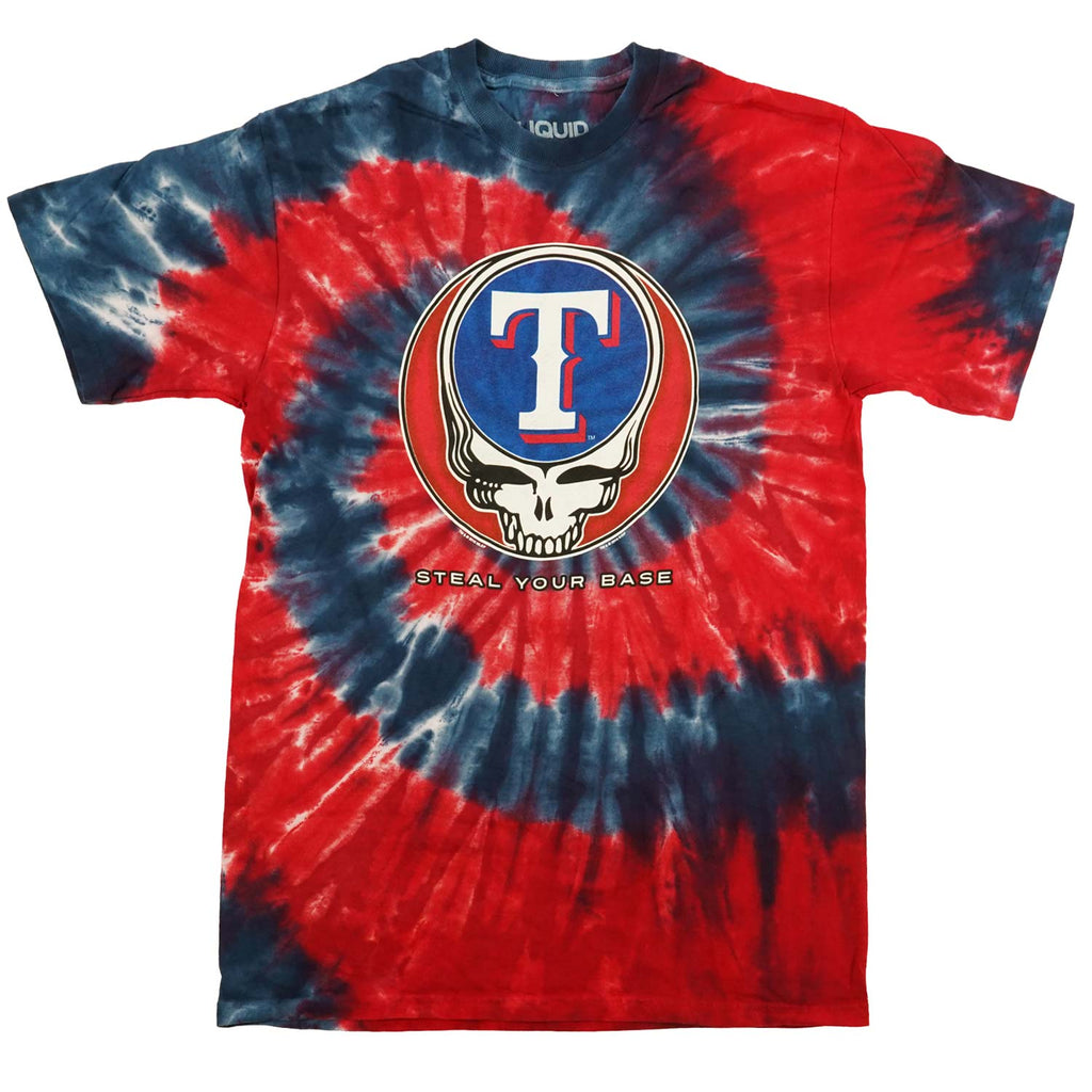 Grateful Dead Texas Rangers Steal Your Base Tie Dye T-shirt