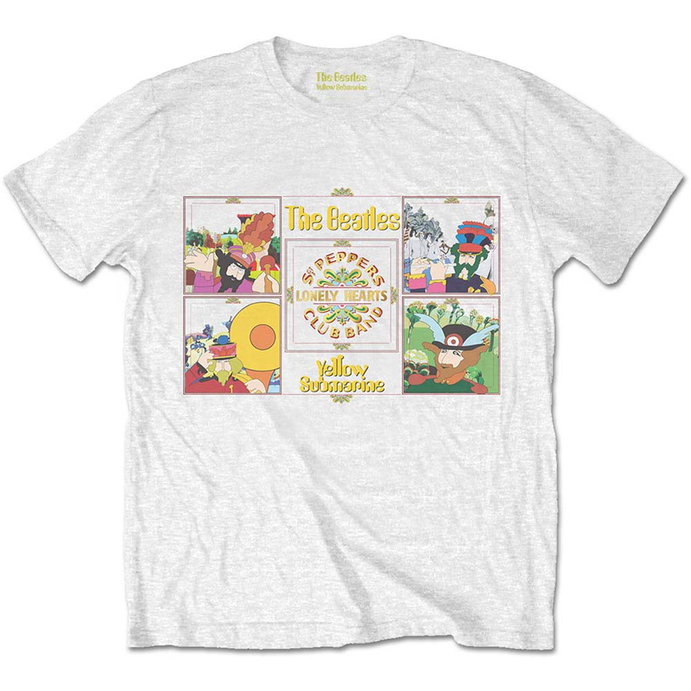 Beatles Yellow Submarine Sgt Pepper Band Slim Fit T-shirt