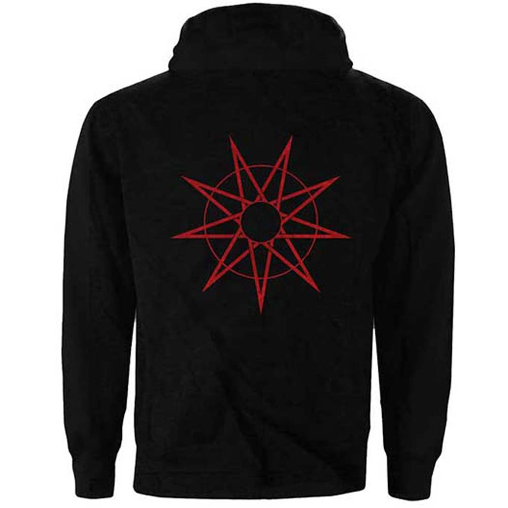 9 Point Star (Back Print) Zippered Hooded Sweatshirt