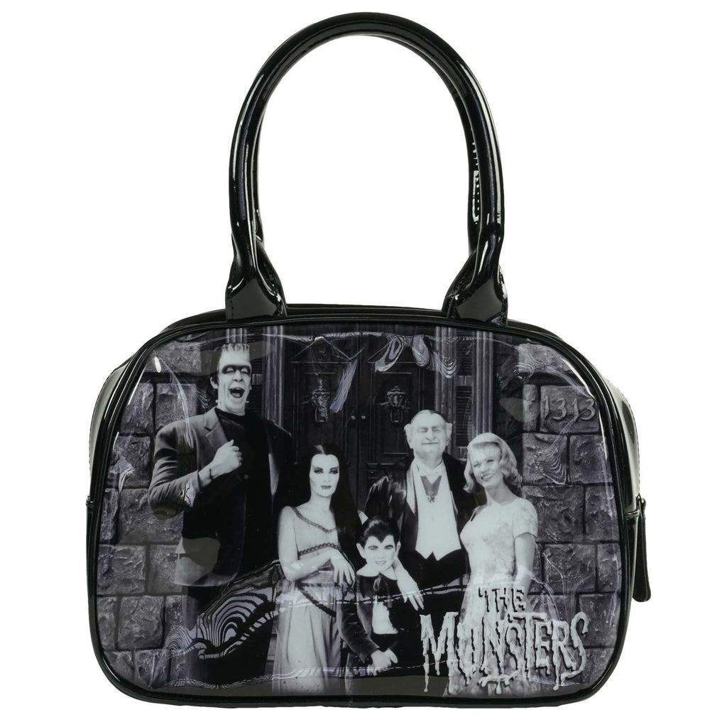Munsters Family Bowler by Rock Rebel Girls Handbag