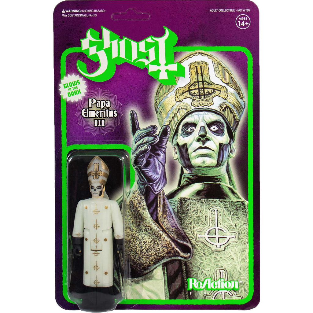 "Super7 Papa Emeritus III (Glows In The Dark) 3.75"" ReAction Figure Action Figure"