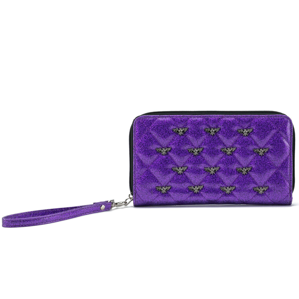 Studded Bats Zip Around Wallet (Bats Stud) Girls Wallet